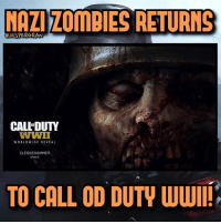Memes, PlayStation, and Ps4: NAZI ZOMPIES RETURNS  CJESPERGRAN  CALEDUTY  WWII  WORLDWIDE REVEAL  SLEDGEHAMMER  GAMES  TO CALL OD DUTV WWIII (Call OF* Duty) Nazi zombies returns to Call of Duty: World War 2!😵🔥- 👥tag a friend👥 ❤️5000 likes?❤️ follow🤖 ⬆️check out the link in my bio⬆️ 🔔turn on post notifications🔔 CoD BattleField1 BlackOps3 WorldWar2 Treyarch MWR callofduty InfiniteWarfare MWRemastered Sledgehammergames Zombies CallofDutyIW InfinityWard PS4 PlayStation WWII xbox XboxOne BF1 BO3 CoD4 Gamer SHGames ModernWarfare Activision Sledgehammer CODWWII Game Gaming CoDReturns