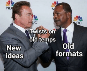 Invest in twists on old temps via /r/MemeEconomy https://ift.tt/2MGqRQd: NB  ВС  NBC  Twists on  old temps  Old  formats  New  ideas  NE Invest in twists on old temps via /r/MemeEconomy https://ift.tt/2MGqRQd