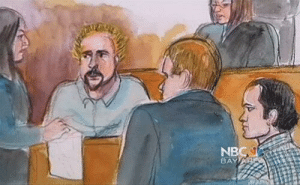 abloodymess:   This Guy Fieri courtroom sketch is maybe the best thing I have seen in my life. I would love to have this framed on my wall. : NB  BAY abloodymess:   This Guy Fieri courtroom sketch is maybe the best thing I have seen in my life. I would love to have this framed on my wall.