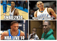 Russell Westbrook's thoughts on NBA 2K14 vs. NBA Live 14! Credit: Jarred Garcia: NBA 2K14  ONBAMEMES  NBA LIVE 14  Westbrook Approves Russell Westbrook's thoughts on NBA 2K14 vs. NBA Live 14! Credit: Jarred Garcia