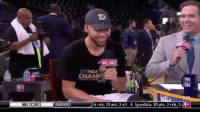 Steph explains the back story on his post Finals cigar.: NBA  CHAMP  TV  NBA SCORES  WARRIORS  6 reb, 10 ast, 3 st  A. Igodala: 20 pts, 3 reb, 3 Steph explains the back story on his post Finals cigar.