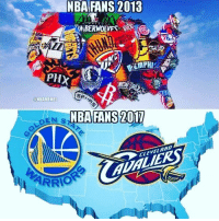 Nba, Cleveland, and Bandwagon: NBA FANS 2018  EMBERWOLVES SSS  PHX  @NBAMEMES  NBA FANS 2017  CLEVELAND  ARRIO 🏀All these bandwagoners, tag one 😂 DOUBLE TAP & TAG a friend if want this to happen!🏀 nba nba2k17 nbaplayoffs nbamemes check4202 ➡Everyone ADD us on Snapchat 👻 - ballershype ➡TURN ON POST NOTIFICATIONS ➡Follow my other account @ballershype for NBA news, rumours, videos! ➡LIKE us on Facebook (Link in bio!)
