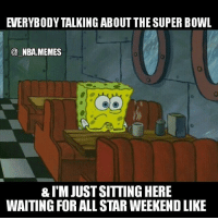 Truee 😂 but fr this Super Bowl has been 🔥 so far! What a comeback by New England 👀 Brady led them to a great OT drive & clinched his 5th ring 🏆 Double tap and tag some friends below! 👍⬇: NBA MEMES  &I'MJUSTSITTINGHERE  WAITING FOR ALL STAR WEEKEND LIKE Truee 😂 but fr this Super Bowl has been 🔥 so far! What a comeback by New England 👀 Brady led them to a great OT drive & clinched his 5th ring 🏆 Double tap and tag some friends below! 👍⬇