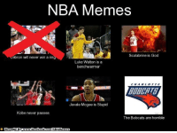 Facebook, God, and Luke Walton: NBA Memes  Scalabrine is God  Lebron will never win a rin  Luke Walton is a  benchwarmer  C H A R L T TE  Javale Mcgee is Stupid  Kobe never passes  The Bobcats are horrible  Brought By www.facebook.com/NBAMemes Don't worry guys, our page will still CONTINUE! Credit: Samir Ahmed