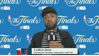 """""""LeBron James Game 3 Post Game Interview"""" ➖➖➖➖➖➖➖➖➖➖➖➖➖➖➖ Disclaimer: I'm A Cavs Fan! CavsIn7 💯🤷🏽♂️ ➖➖➖➖➖➖➖➖➖➖➖➖➖➖➖ Follow My Back Up Page @NickBankshot 🏃🏾💨: @NBA  @NBA  @NBA  @NBA  F LeBron James  Leaving the Cavaliers, taking kyrie with him  @NBA  NBA  @I """"LeBron James Game 3 Post Game Interview"""" ➖➖➖➖➖➖➖➖➖➖➖➖➖➖➖ Disclaimer: I'm A Cavs Fan! CavsIn7 💯🤷🏽♂️ ➖➖➖➖➖➖➖➖➖➖➖➖➖➖➖ Follow My Back Up Page @NickBankshot 🏃🏾💨"""