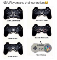 Accurate 😂 nba nbamemes nba2k ps4 Via @RTnba: NBA Players and their controllers  JAMAL CRAWFORD  STEPHEN CURRY  HASSAN WHITESIDE  KOBE BRYANT  TIM DUNCAN  RAJON RONDO Accurate 😂 nba nbamemes nba2k ps4 Via @RTnba