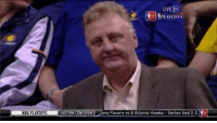 Atlanta Hawks, Funny, and Nba: NBA PLAYOFFS  EASTERN CONFERENCE  LIVE  Pacers vs 8 Atlanta Hawks Series tied 2-2 All white people have an aunt that looks like Larry Bird... https://t.co/ziDCHQqMJ6
