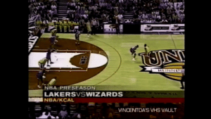 22 years ago today, @KobeBryant dunks on Ben Wallace! This is the first time the dunk was shown on ESPN.   https://t.co/wOomCfQCjz: NBA PRESEASON  LAKERSVSWIZARDS  NBA/KCAL  MNCENTDA'S VHS VAULT 22 years ago today, @KobeBryant dunks on Ben Wallace! This is the first time the dunk was shown on ESPN.   https://t.co/wOomCfQCjz