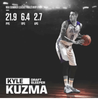 Kyle Kuzma is a steal💯 _ Via @greatesthighlights: NBA SUMMER LEAGUE FINALS MVP  21.9 64 27  PPG  RPG  APG  KYLE  DRAFT  SLEEPER  KUZMA Kyle Kuzma is a steal💯 _ Via @greatesthighlights