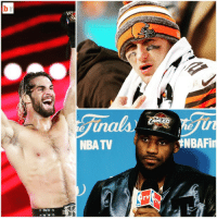 """Johnny Manziel attends WWE Monday Night RAW in Cleveland and Seth Rollins unloads: """"Johnny Idiot Face over there is never gonna bring you a title…LeBron James ain't bringin' a title back to Cleveland!"""": NBA TV  TV  ENBAFin Johnny Manziel attends WWE Monday Night RAW in Cleveland and Seth Rollins unloads: """"Johnny Idiot Face over there is never gonna bring you a title…LeBron James ain't bringin' a title back to Cleveland!"""""""