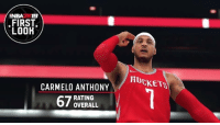 The disrespect...: NBA2K19  FIRST  LOOH  ROCKETS  CARMELO ANTHONY  RATING  OVERALL The disrespect...