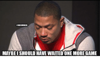 Can D-Rose take over this game?: @NBAHUMOR  MAYBEISHOULD HAVE WAITEDONE MORE GAME Can D-Rose take over this game?