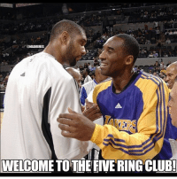 '@NBAMEMES  WELCOME TO THE FIVERING CLUB! Haha nbamemes kobe kobebryant timduncan nba_memes_24 LISTEN UP: We are having a contest! Direct message us your favorite NBA meme and we will post the best one and give credit to the one who sent us the best! Once we reach 1,000 followers, we will post the best. Send memes to us now!