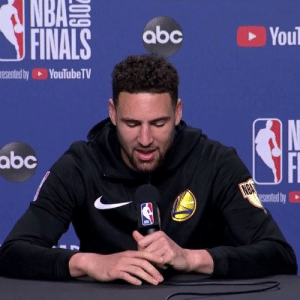 Klay's laugh 💀: NBAS  FINALS  abc  You  esented by  YouTube TV  N  abc  NBA  esented by Klay's laugh 💀