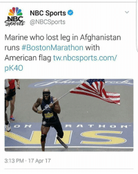 America, Funny, and Instagram: NBC Sports  NBC  @NBC Sports  Marine who lost leg in Afghanistan  runs Boston Marathon  with  American flag  tw.nbcsports.com/  40  pK 2864  3:13 PM 17 Apr 17 This is awesome! 🔴www.TooSavageForDemocrats.com🔴 JOINT INSTAGRAM: @rightwingsavages Partners: 🇺🇸👍: @The_Typical_Liberal 🇺🇸💪@theunapologeticpatriot 🇺🇸 @DylansDailyShow 🇺🇸 @keepamerica.usa 🇺🇸@Raised_Right_ 🇺🇸@conservative.female 😈 @too_savage_for_liberals 🇺🇸 @Conservative.American DonaldTrump Trump 2A MakeAmericaGreatAgain Conservative Republican Liberal Democrat Ccw247 MAGA Politics LiberalLogic Savage TooSavageForDemocrats Instagram Merica America PresidentTrump Funny True SecondAmendment