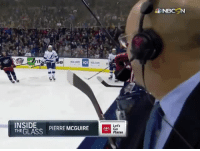 Gif, Tumblr, and Media: NBCSN  nt  IGS  INSIDE  THE GLASS  Lets  Go  Places  PIERRE MCGUIRE Le ha faltado el pelo de un calvo.