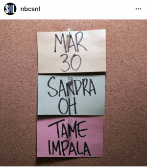 Memes, Queen, and Rain: nbcsnl  30  QH  TAME  IMPALA 11 yr old me woulda stood in the rain outside 30 rock for this too. Queen Sandra Oh !! https://t.co/nC0M4MOLiD