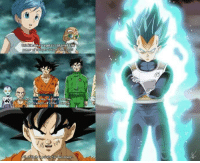 I loved this moment in Super for obvious reasons. Vegeta looked so badass transforming and Goku saying what he said after he did, it was pretty epic.: nbe  Liavable! Vegeta s obtained the  God toon  of a Super Saiya  And unlike me, he didn't  borrow  Ehe strength of other Saiyans I loved this moment in Super for obvious reasons. Vegeta looked so badass transforming and Goku saying what he said after he did, it was pretty epic.
