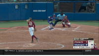 What a play! https://t.co/g1ITeY01ND: NCAA COM/SHOP  NATIONAL CHAMPIONSHIP  BEST OF 3 GAME 1  6 Florida St  1  BOT 7  5 Washington 0  LIVE  0-1 0 Outs Pitches: 102  NBA FINALS s, remains uncertain for Game 3 What a play! https://t.co/g1ITeY01ND