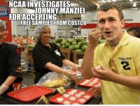 Free Samples: NCAA INVESTIGATES  JOHNNY MANZIEL  FORIACCERTING  FREE SAMPLES FROM COSTCO  TEXAS ASH
