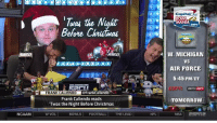 VIDEO: @FrankCaliendo reads 'Twas The Night Before Christmas' as different ESPN personalities.: NCAAM  CapitalOne  the Night  BOWL  MANIA  wa4  Before Chrutauas  d W. MICHIGAN  VS  AIR FORCE  5:45 PM ET  mFRANK CALIENDO  QFrankCaliendo  i-  Frank Caliendo reads  TOMORROW  Twas the Night Before Christmas  BOWLS FOOTBALL THE LEADI NFL W VOL  NBA EST T12 VIDEO: @FrankCaliendo reads 'Twas The Night Before Christmas' as different ESPN personalities.