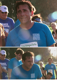 Funny, Michael Scott, and Run: NCE  ERATION  Michael Scotts  Dunder Mill in  Scranton Meredith  Palmer Memoria  olebrity Rahies  Awareness Pro-Anl  Fun Run Race  For The Cure  CELEBRITY AM  Fun Run  Awareness Rabies  d4 HD me stepping outside when it's anything higher than 65 degrees
