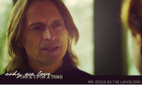 whyweloveonceuponatime:  Mr. Gold as the Landlord. : NCE UPON  A TIME  MR. GOLD AS THE LANDLORD whyweloveonceuponatime:  Mr. Gold as the Landlord.