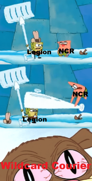 Hoover Dam, Legion, and Ncr: NCR  Legion  NCR  Legion  Wildcard Courie Which one of you REALLY owns Hoover Dam?