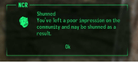 me irl #meirl #lmao: NCR  Shunned  You've left a poor impression on the  community and may be shunned as a  result.  Ok me irl #meirl #lmao