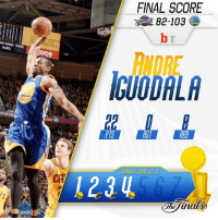 The @warriors bounce back behind a big night from @andre to tie the series at 2-2! 🏀🏀🏀: ND GREEN, THREE  PORRER  ace  FINAL SCORE  ANDRE  IGUODALA  PIS  RST  RER  1214 The @warriors bounce back behind a big night from @andre to tie the series at 2-2! 🏀🏀🏀