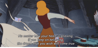 True, Heart, and Http: ND  No matter how your heart is arieving  you keep on believing,  the dream that you wish will come true http://iglovequotes.net/