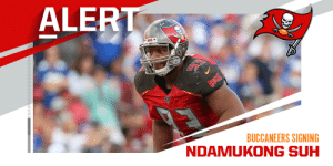 Ndamukong Suh expected to re-sign with Buccaneers on one-year, $8M deal. (via @RapSheet + @MikeGarafolo) https://t.co/99SBE5fdTc: Ndamukong Suh expected to re-sign with Buccaneers on one-year, $8M deal. (via @RapSheet + @MikeGarafolo) https://t.co/99SBE5fdTc