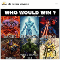 dc dccomics dceu dcu dcrebirth dcnation dcextendeduniverse batman superman manofsteel thedarkknight wonderwoman justiceleague cyborg aquaman martianmanhunter greenlantern theflash greenarrow suicidesquad thejoker harleyquinn comics injusticegodsamongus: Ndc nation universe  WHO WOULD WIN ?  IG DC NATION  DARKSIED OR MANHATTAN SUPERMA  WØRLD BREAKER  THANOS  HULKS  SENTRY dc dccomics dceu dcu dcrebirth dcnation dcextendeduniverse batman superman manofsteel thedarkknight wonderwoman justiceleague cyborg aquaman martianmanhunter greenlantern theflash greenarrow suicidesquad thejoker harleyquinn comics injusticegodsamongus