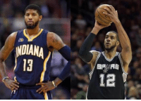 According ESPN Chris Mannix, the Indiana Pacers are currently discussing a blockbuster trade involving the San Antonio Spurs LaMarcus Aldridge and Danny Green.   Possible deal was,  Pacers received: LaMarcus Aldridge - Danny Green - Derrick White and 2018 1st round pick   Spurs received: Paul George and Myles Turner  - HumbleBeast: NDIANA  13  3  SPUAS  12 According ESPN Chris Mannix, the Indiana Pacers are currently discussing a blockbuster trade involving the San Antonio Spurs LaMarcus Aldridge and Danny Green.   Possible deal was,  Pacers received: LaMarcus Aldridge - Danny Green - Derrick White and 2018 1st round pick   Spurs received: Paul George and Myles Turner  - HumbleBeast