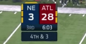 Atlanta Falcons, Football, and Nfl: NE ATL  3 28  RD 6:03  4TH & 3 Happy Atlanta Falcons Choke Day! https://t.co/vHPuqoMUqb