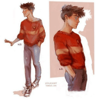NE.  NB  ATALIENART  TUMBLER COM This is what I pictured Harry Potter looking like! {art by atalienart on tumblr} . . . hp harrypotter