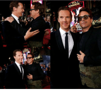 Doctor, Memes, and Robert Downey Jr.: NEATH  TCLe  CHINESE。  THEATRES Benedict Cumberbatch and Robert Downey Jr. at the DOCTOR STRANGE world premiere! Who can't wait for Doctor Strange and Tony Stark to meet in INFINITY WAR?  (Andrew Gifford)
