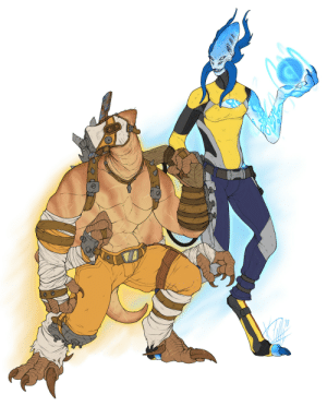 necromorph-slayinglovemachine:  W r o w I drew something for onceBL alien AU if it took place in the Squadverse I guess? Krieg's a Kharkrua (Shi's race created by me as y'all prolly know by now) and Maya's a Luoan which belong to @lord-owlsnake : necromorph-slayinglovemachine:  W r o w I drew something for onceBL alien AU if it took place in the Squadverse I guess? Krieg's a Kharkrua (Shi's race created by me as y'all prolly know by now) and Maya's a Luoan which belong to @lord-owlsnake