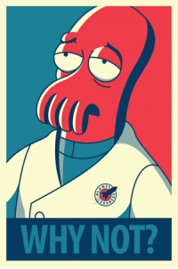 NED  EXP  WHY NOT? Tired of bashing Trump and Clinton? Why not Zoidberg?