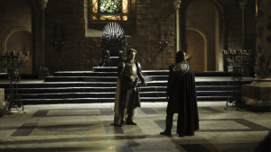 Jaime Lannister, Ned Stark, and House: Ned Stark always judged Jaime Lannister for what he did to Aerys. He mentioned it after-3 year immediately when he entered throne room. And the boy who grew up in his own house, with his principes acted like Jaime. Like Lannister not like Stark.Can you imagine Ned's disappointment.