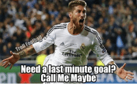 Ramos with a late equaliser in elclasico: Need aiast minute goal?  Call Me Maybe Ramos with a late equaliser in elclasico
