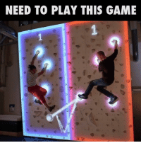 This looks like so much fun 🙌🙌  Credit: Augmented Climbing Wall: NEED TO PLAY THIS GAME This looks like so much fun 🙌🙌  Credit: Augmented Climbing Wall