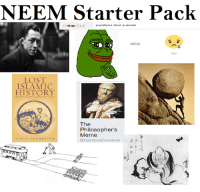 Islam, Suicide, and Non Existent Existentialist: NEEM Starter Pack  painless fast suicide  CGLE  not oc  Sacl  LOST  ISLAMIC  HISTORY  The  Philosopher's  Meme