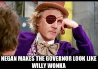 #michonne: NEGAN MAKES THE GOVERNORLOOK LIKE  WILLY WONKA #michonne