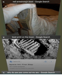 "Ass, Google, and Google Search: neil armstrong's boot Google Search  boot print on the moon Google Search  Space Art  Space Art: First Step  A11 Iunar bootprint  imagos may be wabject to copyright.  X whv do pee pee come out mv ass Google Search <p>Please invest via /r/MemeEconomy <a href=""https://ift.tt/2G9J6ZF"">https://ift.tt/2G9J6ZF</a></p>"