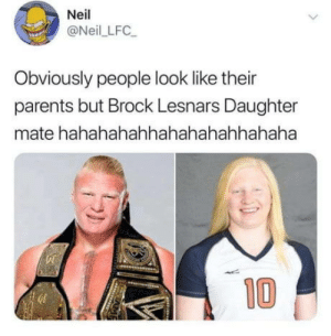 Faceswap inbuilt into the family tree: Neil  @Neil LFC  Obviously people look like their  parents but Brock Lesnars Daughter  mate hahahahahhahahahahhahaha  10 Faceswap inbuilt into the family tree