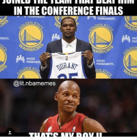 But no one remembers that ray did it too👀 - - Follow @2nbamemes: NENTE  IN THE CONFERENCE FINALS  PERMANENTE  OEN  ARF  ARRIO  RRIO  KAISER  PERMAN  PERMANENTE.  EN S  ARR  Galit nabamemes But no one remembers that ray did it too👀 - - Follow @2nbamemes
