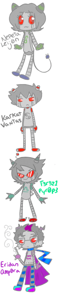 Target, Tumblr, and Blog: Nepeta  Lei on   13r321   Eridan -  8  np renkura:  what if i robot-stuckku