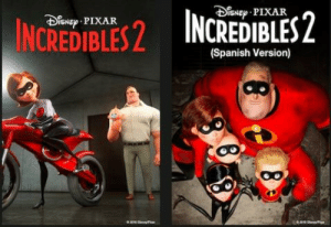 Netflix, Pixar, and Spanish: NEPIXAR  NE PIXAR  (Spanish Version) Netflix makes an interesting choice in their different movie posters for the incredibles 2