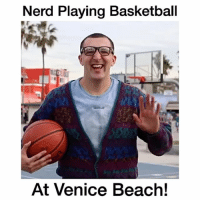 """Nerd Pranks people in basketball at Venice Beach!😂 - Comment """"nerd"""" letter by letter without getting interrupted! - Follow @wildtapes for more!: Nerd Playing Basketball  At Venice Beach! Nerd Pranks people in basketball at Venice Beach!😂 - Comment """"nerd"""" letter by letter without getting interrupted! - Follow @wildtapes for more!"""